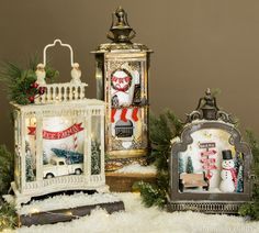 Have a holly jolly Christmas with personalized snow lanterns!