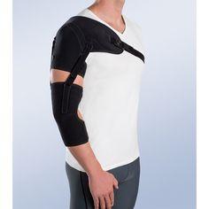SOPORTE DE HOMBRO CON CINCHA DE BRAZO Y ANTEBRAZO - REF: 94303D (DRCHA) / 94303I (IZQDA): Lesiones neurológicas de miembro superior, lesiones del plexo-branquial con parálisis de hombro y brazo, hemiplejías producidas por un ictus, lesiones de los nervios periféricos y traumatismos cerebrales, hombro doloroso e inestable, para la subluxación de hombro.