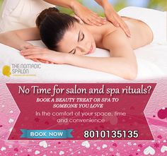 Why step out when you can have your #spa and #salon come home with Exciting prices & offers! Just call at 8010135135 and fix your appointment at your home for your time and convenience. www.thenomadicspalon.com  #Makeup #SpaAtHome #ValentineDay