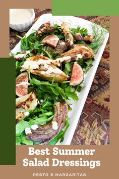 Most of us enjoy a good salad, especially in summer when hot meals are hard work. But every good salad needs a good salad dressing to be more than a bowl of greens! Check out these ideas for salad dressings and vinaigrettes to enhance your salads and also see what kind of salads will work best with them #salad #saladdressing #vinaigrette Best Salad Dressing, Creamy Salad Dressing, Salad Dressing Recipes, Salad Dressings, Best Salad Recipes, Salad Recipes For Dinner, Lunch Recipes, Keto Recipes, Healthy Recipes