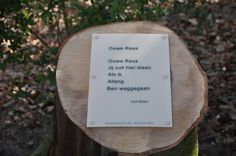 Boomgedichtenroute Emile Van Loonpark #roosendaal, gedicht van Aad Meijer