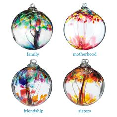 RECYCLED GLASS TREE GLOBES - RELATIONSHIPS | Motherhood, Family, Friendship, Sister, Stephen Kitras | UncommonGoods