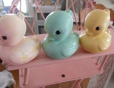 these look like the ducks you would pick up at a carnival to see if you won a prize.