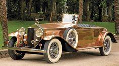 A shiningly beautiful (literally!) 1930 Rolls Royce Phantom II Roadster. #vintage #1930s #car