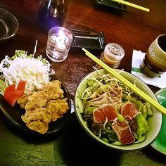 #itadakimasu #dinner #tuna #tataki #salad & #chickenkarage #karage #japan #japanese #sashimi #sushi #nite #makan #malam #malming #food #instafood #instalike #instapic #vscocam #foodism #foodgasm #foodporn #chopstick #wasabi #enak #lapar by dino_rs