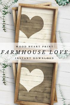 Perfect for just about everywhere! I'm thinking gallery wall, wedding reception, or maybe my master bedroom. #afflink #pallet #love #farmhouse #instantdownload #printable #wedding #giftidea