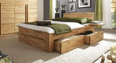 Wardrobe bed combination - Best Home Decorating Ideas - How To Design A Room - homehomedecor Platform Bed With Storage, Bed Frame With Storage, Bed Storage, Storage Drawers, Bedroom Bed Design, Modern Bedroom, Wardrobe Bed, Wood Pallet Beds, Best Bedding Sets