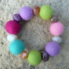 How to make felted beads -- great for jewelry.