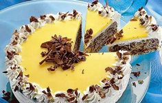 Eggnog and chocolate cake