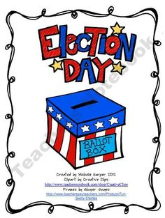 Free 11-page Election Day Printable from No-Monkey-Business Shop - | Teachers Notebook