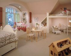 I would change up the decor, but A&E would just love the layout of this room! Look at all the nooks and crannies!!