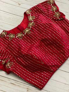 Hand Work Blouse Design, Stylish Blouse Design, Half Saree Designs, Blouse Designs, Designer Party Wear Dresses, Designer Blouse Patterns, Indian Designer Wear, Blouse Styles, Indian Fashion