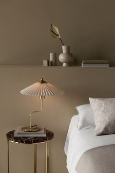 Table lamp with a pleated fabric shade and cranked metal base. Diameter of shade 38 cm. Large Table Lamps, Table Lamps For Bedroom, Pleated Lamp Shades, Fabric Shades, Hm Home, Home Decor Inspiration, Interior Design, Designer Table Lamps, Floor Lamps