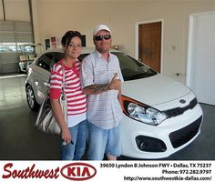 Happy Anniversary to Stacy Klander on your 2012 Kia Rio from Rudolph Iii and everyone at Southwest Kia Dallas!