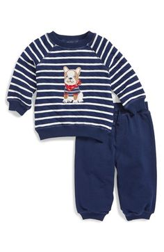 Little+Me+'Dog'+Quilted+Sweatshirt+&+Pants+(Baby+Boys)+available+at+#Nordstrom