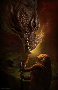 Dragon Love and his lady warrior