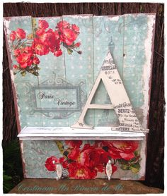 Easy Step by Step Sourcing Guide for Modern Home Decoration Cuadro DIY con un precioso estilo vintage The Best of shabby chic in Crafts To Do, Wood Crafts, Diy Crafts, Cuadros Diy, Paris Vintage, Shabby Chic, Decoupage Glass, Tea Box, Hand Painted Furniture