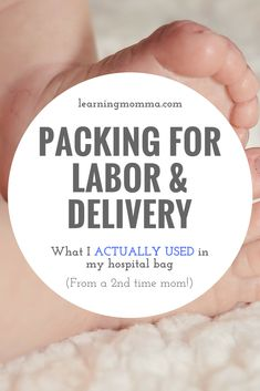 Are you packing your hospital bag for labor & delivery? Are you preparing for birth and your hospital stay after? Here is my hospital bag checklist of the items that I packed in my hospital bag for the birth of my second daughter, with note of the items that I actually ended up using! #hospitalbag #laboranddelivery #hospitalbagchecklist