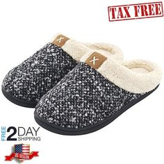 4ce624b0bd96 Women s Cozy Memory Foam Slippers Fuzzy Wool-Like Plush Fleece Lined House Shoes  w Indoor Outdoor Anti-Skid Rubber Sole nike shoes