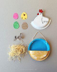 ...oder wo versteckt sich das Küken? Ich mag Arbeiten mit Papptellern sehr gerne und diesmal spielen sie die Hauprolle beim Osterne...
