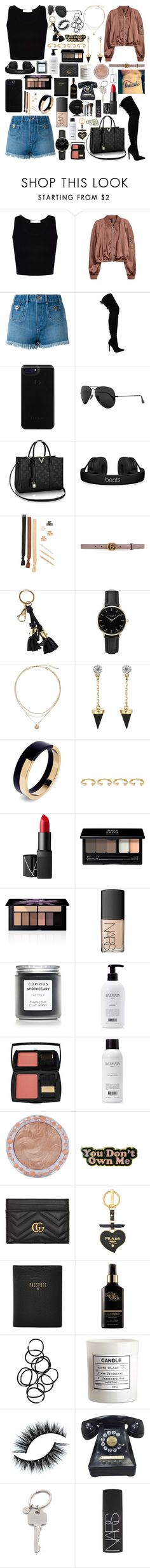 """The Weight"" by ebz127 ❤ liked on Polyvore featuring H&M, Chloé, Ray-Ban, Beats by Dr. Dre, Kitsch, Gucci, Dolce&Gabbana, ROSEFIELD, Brixton and Marni"