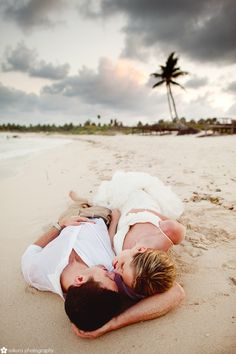 post wedding session on the beach in mexico