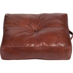 Large leather floor pillow in camel | Poufs by Morelle | Pinterest ...
