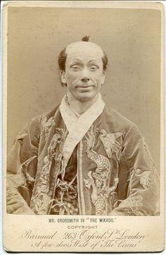 Photograph (1885), by Herbert Rose Barraud (1845-1896), of George Grossmith (1847-1912), as Ko-Ko, in The Mikado (1885), by Sir Arthur Sullivan (1842-1900).