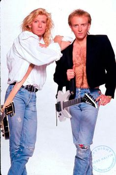 Terror Twins- Steve Clark (R.I.P.) & Phil Collen of Def Leppard