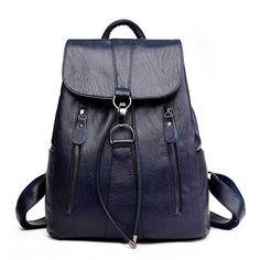High Quality Leather Backpack Woman New Arrival Fashion Female Backpack Large Capacity School Bag Mochila Feminina String Bag