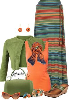 Striped Maxi Skirt. Love the colour combo of this lil ensemble. kinda cute.