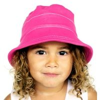 Bucket Hat with Strap - Bright Pink
