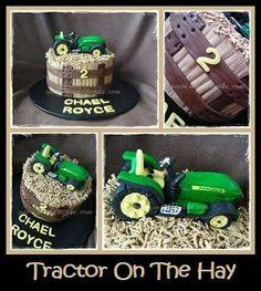 Tractor on the Hay Cake #cake #birthday #muddacake