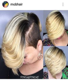 teenage hairstyles for school Signs Shaved Side Hairstyles, Quick Weave Hairstyles, Cute Hairstyles For Short Hair, Black Hairstyles, Asymmetrical Hairstyles, Hairstyles Videos, Simple Hairstyles, Hairstyles 2018, Bridal Hairstyles