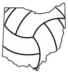 OhioVolleyball Shirt Design Volleyball Shirts and Apparel.  Sweatshirt/TShirt/Long Sleeve T