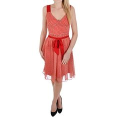 Miss Posh Womens Ladies Sleeveless Chiffon Knee Length Dress - Red - 6 $ 8.02