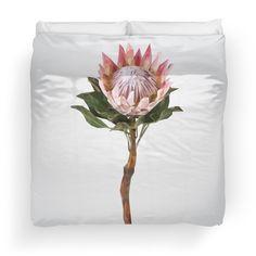 'Protea Sugarbush Flower' Duvet Cover by houseofenigma College Dorm Bedding, Duvet Insert, Duvet Covers, Flowers, Florals, Dorm Bedding, Flower, Blossoms
