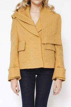 3.1 Phillip Lim Short Coat with Removable Scarf