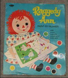 1969 HUGE Raggedy Ann Paint-By-Number Coloring Book by bookmonster