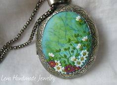 Ocean Flowers Gently Medallion for by StoriesMadeByHands on Etsy, $68.00