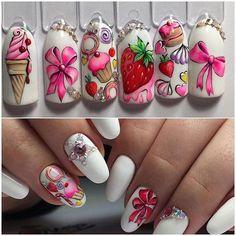 Latest Nail Art Ideas - Latest Nail Art Ideas 2019 for Girls Foil Nail Art, Nail Art Diy, Cute Nails, Pretty Nails, Gel Nails, Manicure, Nail Art Wheel, Nail Art Designs Videos, Latest Nail Art