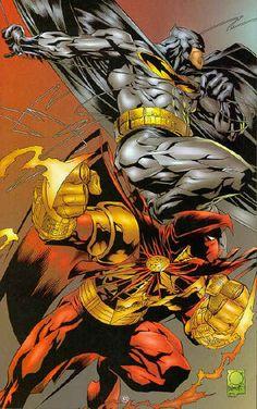 Batman and Azrael by Joe Quesada. Classic.
