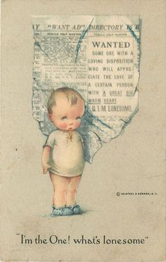 Charles Twelvetrees~Newspaper Want Ad~Lil Boy: I'm the one What's Lonesome