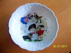 vintage child's nursery rhyme bowl BAA BAA BLACK SHEEP aynsley england