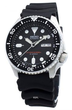 Refurbished Seiko Automatic Japan Made Diver's Men's Watch Rolex Watches, Watches For Men, Seiko Automatic, 200m, Online Watch Store, Stainless Steel Case, Markers, Hands, Japan