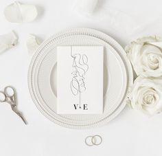 Modern wedding invitation template Modern Wedding Invitations, Wedding Invitation Templates, Printable Invitations, Edit Online, Line Drawing, Save The Date, Wedding Invitation Design