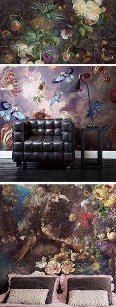 BN Wallcoverings - No Limits uit de collectie: Dutch Masters.  Prachtige dessins van Katarina Stupavska, die zijn geïnspireerd op schilderijen van meesters uit ons Rijksmuseum Amsterdam. Op maat te maken. Prijs voor een wand van: 1.86 m breed x 2.80 m hoog vanaf € 115,00 http://www.verfenwand.nl/assortiment/behang/collecties-behang/dutch-masters