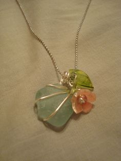 Shrink plastic and sea glass    GenuineMudPie - shrink plastic necklace jewelry crafts - tå√