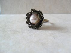Lotus Ring In Pearl by SavannahChristiana on Etsy, $17.00