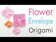 """Thank you for watching this video channel:-) Learn how to make an """"Origami Paper Square Flower Letter Envelope ✨simple✨ - Origami Kawaii"""" ( Designed by Origa. Origami Tutorial, Origami Easy, Origami Paper, Origami Envelope, Envelope Box, Envelopes, Paper Video, Flower Letters, Origami Flowers"""